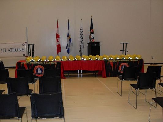 HRM Volunteer Firefighters Graduation Set Up